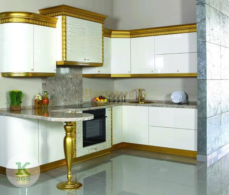 Кухня белая с золотом Аляска артикул: 168781