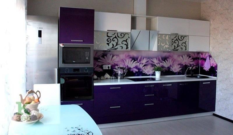 Кухня баклажан Цветы артикул: 00086260